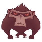 Angry Ape — Stock Vector