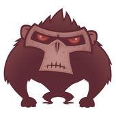 Angry Ape — Stock Vector