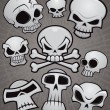 Cartoon Skull Collection — Stock Vector