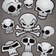 Stock Vector: Cartoon Skull Collection
