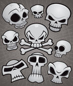 Cartoon Skull Collection — Vector de stock