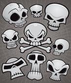 Cartoon Skull Collection — Stock Vector