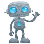 Waving Robot — Stock Vector
