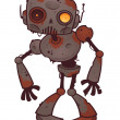 Rusty Zombie Robot — Stock Vector