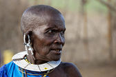 Old masai woman — Foto Stock