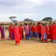 Masai village - Stock Photo