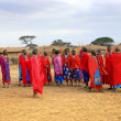 Stock Photo: Masai village