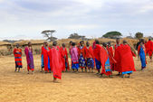 Masai village — Stock Photo