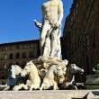 Florence. The fountain of Neptune — Stock Photo