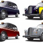 Classical London Taxi — Stock Vector #9456984