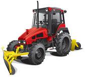 Snow plow tractor — Stock Vector