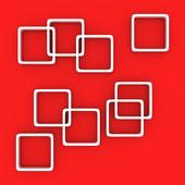Kırmızı beyaz kareler — Stok fotoğraf