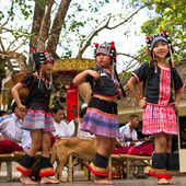 Akha dances — Stock Photo