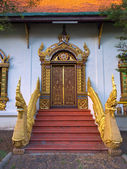 Entrance door of asian temple — Stock Photo