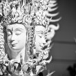 Mythological head in Wat Rong Khun — Stock Photo