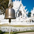 Bell in white temple — Stock Photo