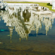 Stock Photo: Reflection of Wat Rong Khun