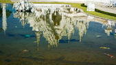 Reflection of Wat Rong Khun — Stock Photo