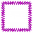 Purple spiral frame — Stock Photo