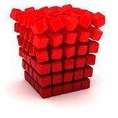 Falling apart cube — Stock Photo
