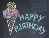 Happy birthday congratulations — Stock Photo