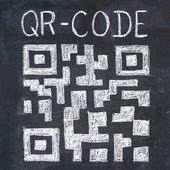 QR-code drawing — Stock Photo