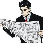 Illustration of a businessman — Stock Photo