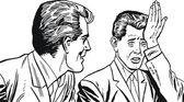 Illustration of a businessman, drawn in comic style — Zdjęcie stockowe