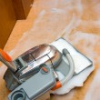 Steam Carpet Cleaning Process — Stock Photo