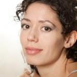 Close up portrait of a beautiful female model — Stock Photo