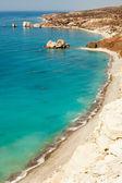 Rock of Aphrodite or Petra tou Ramiou in Cyprus, Europe — Stock Photo