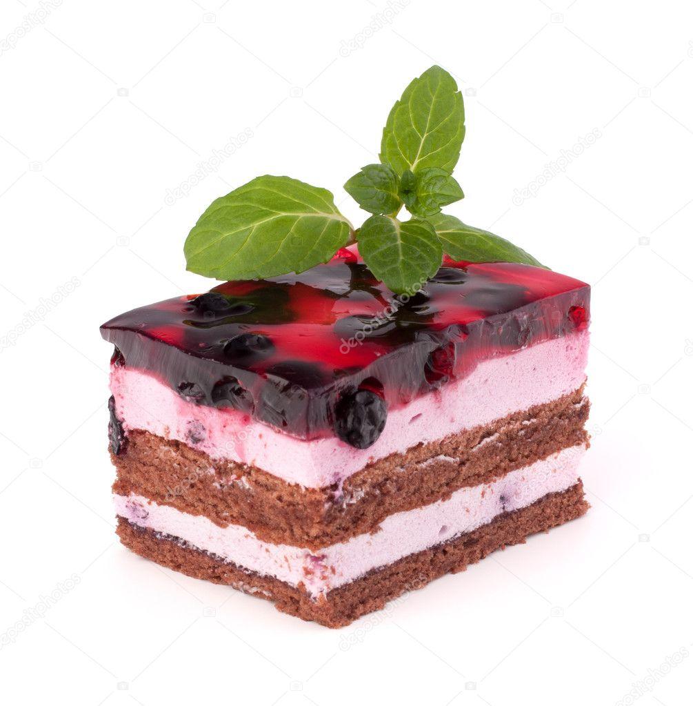 美味的蛋糕片