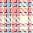 Seamless plaid fabric pattern background. Vector illustration — Stock Vector