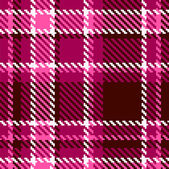 Seamless Red and Pink Checkered Vector Fabric Pattern — Stock Vector