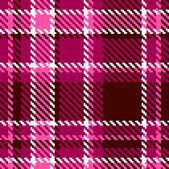 Modèle de tissu sans couture vecteur damiers rouges et roses — Vecteur