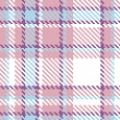 Stock Vector: Seamless Plaid Fabric Pattern Background. Vector illustration