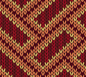 Abstract Ethnic Knitted Seamless Background. Vector illustration — Stockvektor