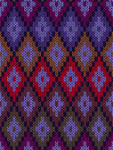 Style Seamless Color Knitted Pattern — Wektor stockowy