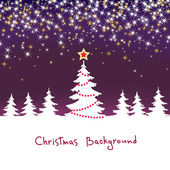Christmas sparkle background with tree — Stock Vector