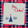 Royalty-Free Stock Vector Image: Christmas frame design with red and blue tree