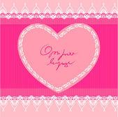 Heart shape design, vector background — Stock Vector
