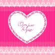 Beautiful pink background with lace and heart — Imagens vectoriais em stock