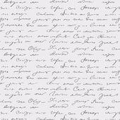 シームレスな抽象的な手書きテキスト パターン — ストックベクタ