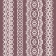 Collection of cute white straight lace (vector set) — Vettoriale Stock #9241834
