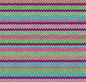 Style Seamless Color Knitted Pattern — Vector de stock