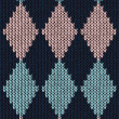 Royalty-Free Stock Vector Image: Style seamless blue pink color knitted pattern