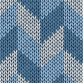 Stijl gebreide naadloze kleurenpatroon — Stockvector