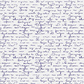 Seamless abstract handwritten text pattern — Wektor stockowy