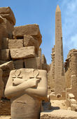 Pharaon and obelisk — Stock Photo