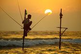 Sri Lanka, south coast - January 06; 2011: traditional sri lanka — Stock Photo